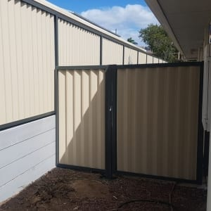 Colorbond Fence and Gate