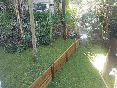 Tiered Retaining with Landscaping 1